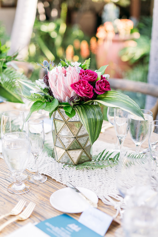 beautiful table details at casa romantica in san clemente