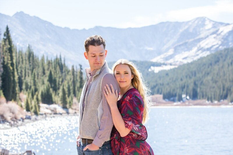 Colorado engagement photography just outside of Breckenridge at Clinton Gulch Dam Reservoir