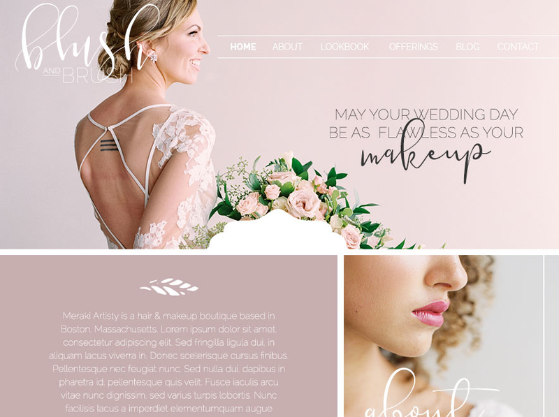 Showit5 website and Adobe Marketing templates designed specifically for the wedding hair & makeup artist