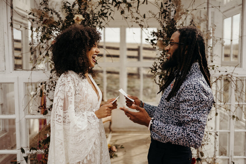 African American Couple Elopement