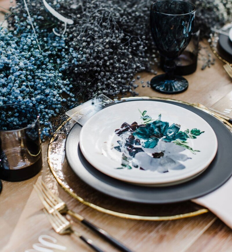 Classic Blue Place Setting
