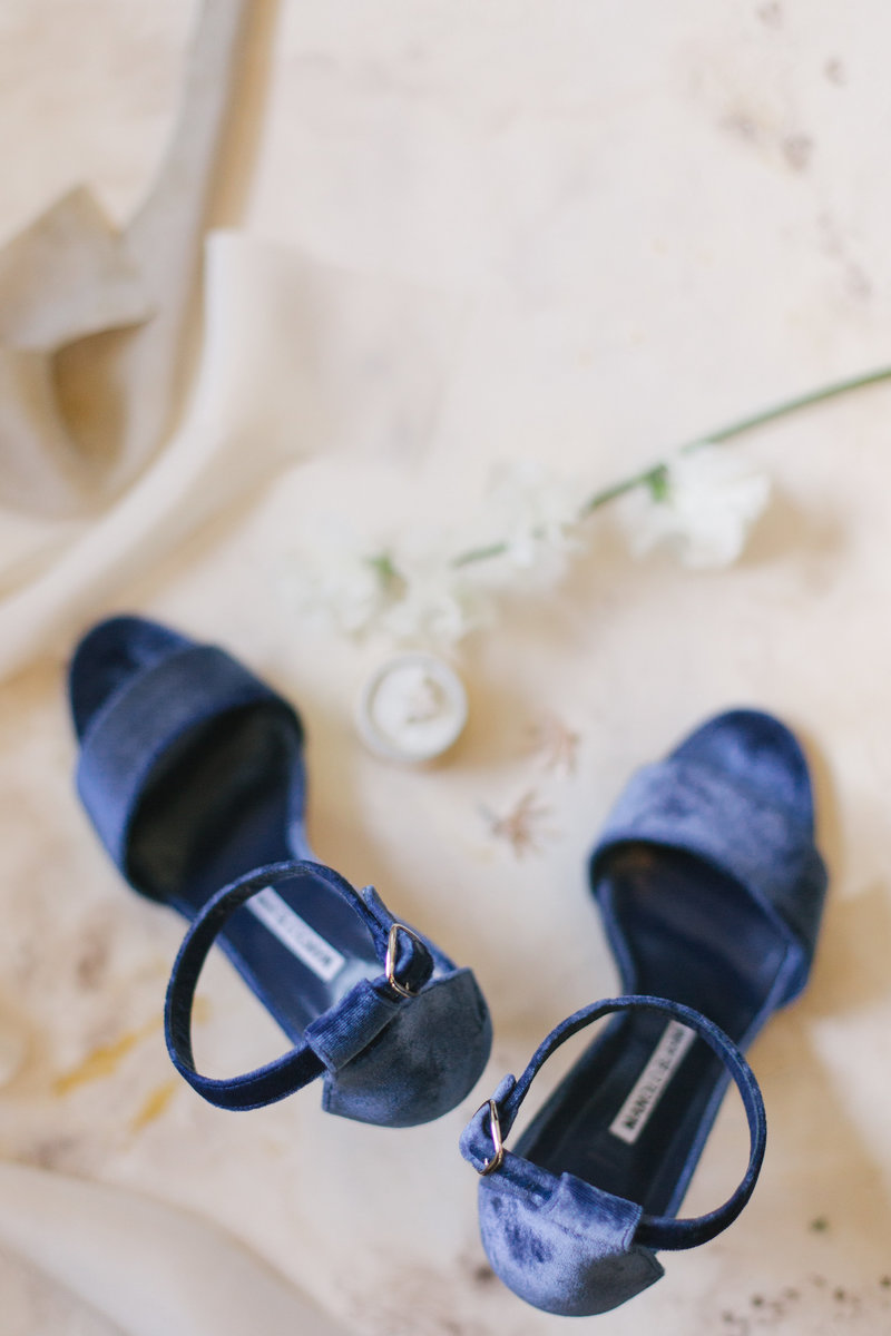 Brides shoes at Santa Barbara Courthouse wedding