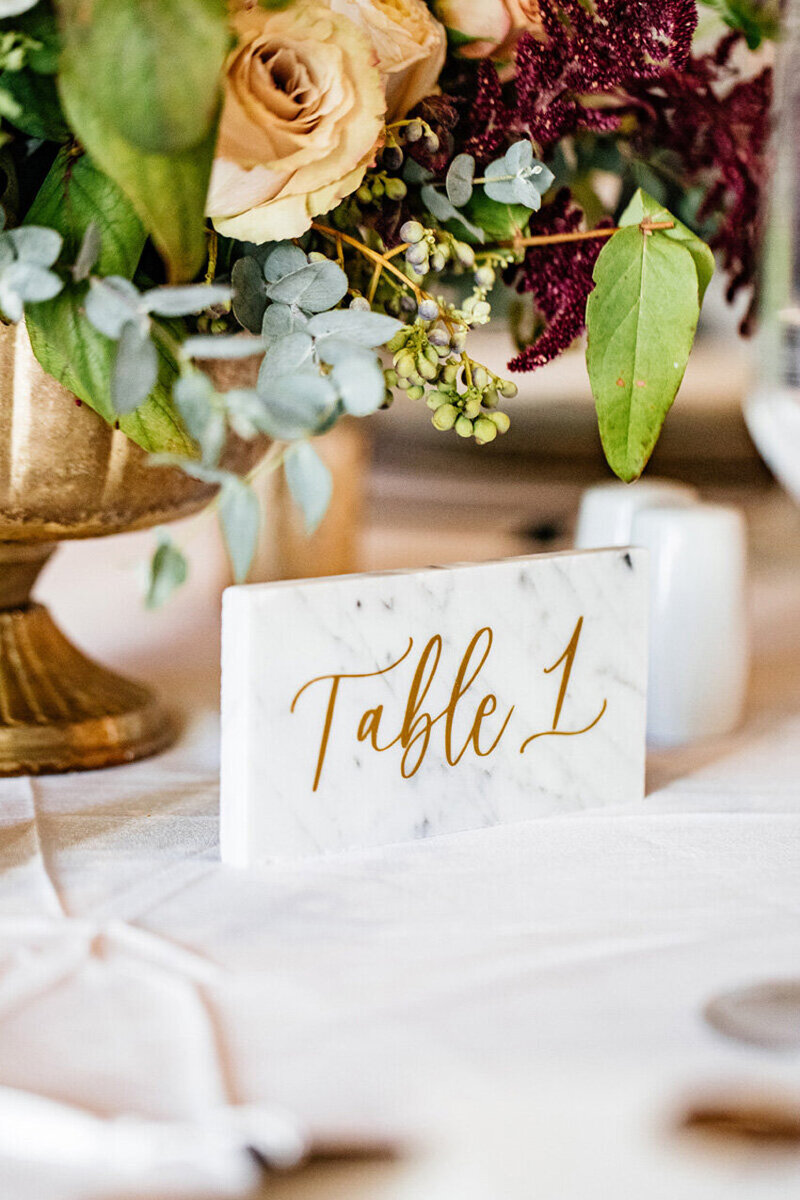 pirouettepaper.com | Wedding Stationery, Signage and Invitations | Pirouette Paper Company | Table Numbers 69