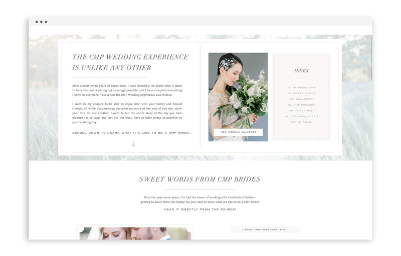 Carrie McGuire Photography - Custom Brand and Showit Web Design Website by With Grace and Gold - 14