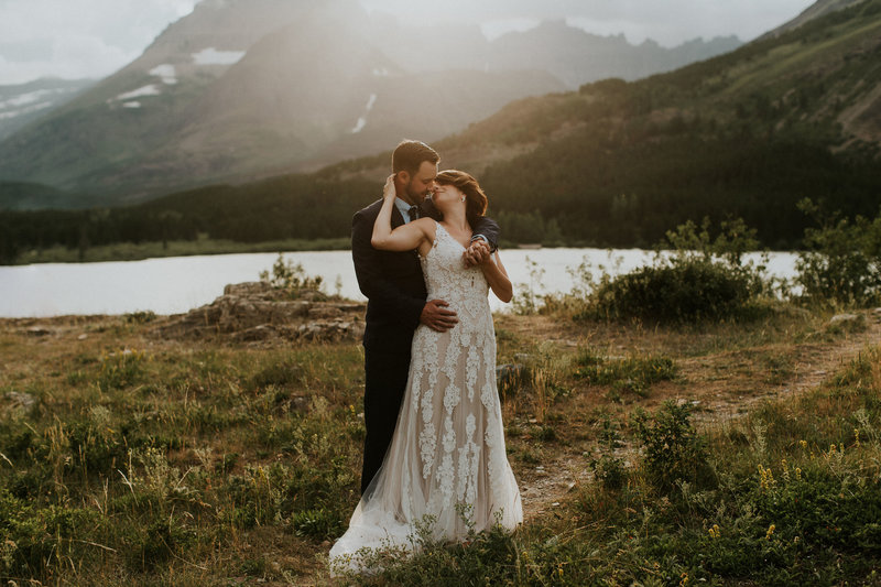 Mountain Lake Elopement in Glacier National Park