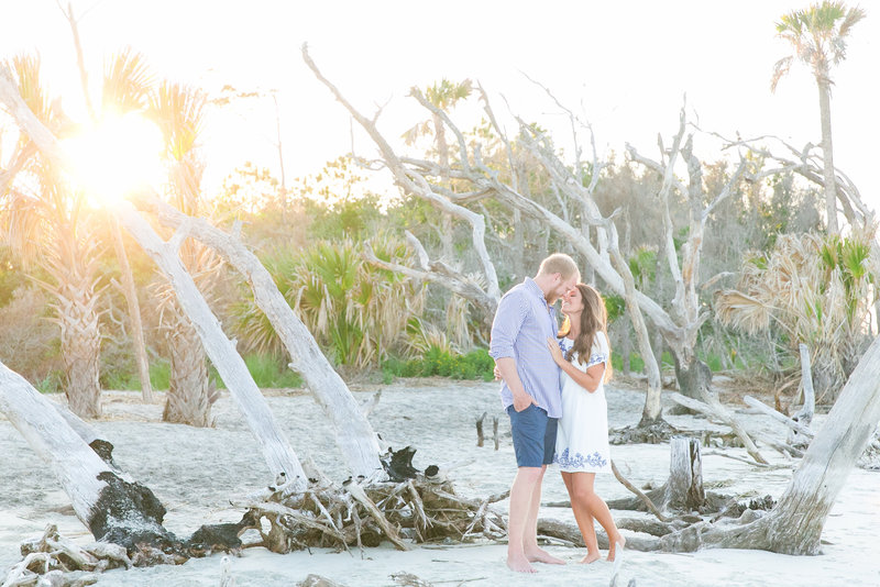 beach engagement photography charleston sc