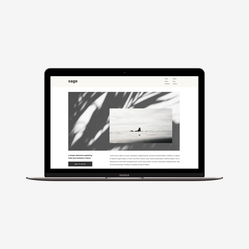 The Roar Showit Webdesign Template Sage Macbook