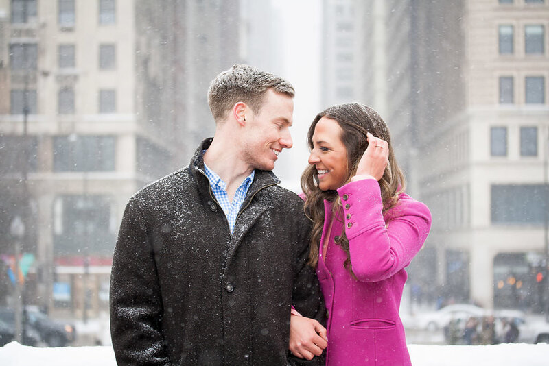 Millennium Park Chicago Illinois Winter Engagement Photographer Taylor Ingles 36