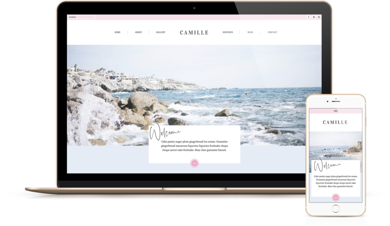 Handcrafting Heartfelt Brand & Website Designs for Female Creatives |  Showit | Showit Templates | Showit Websites | Showit 5 | by Viva la Violet  | Camille