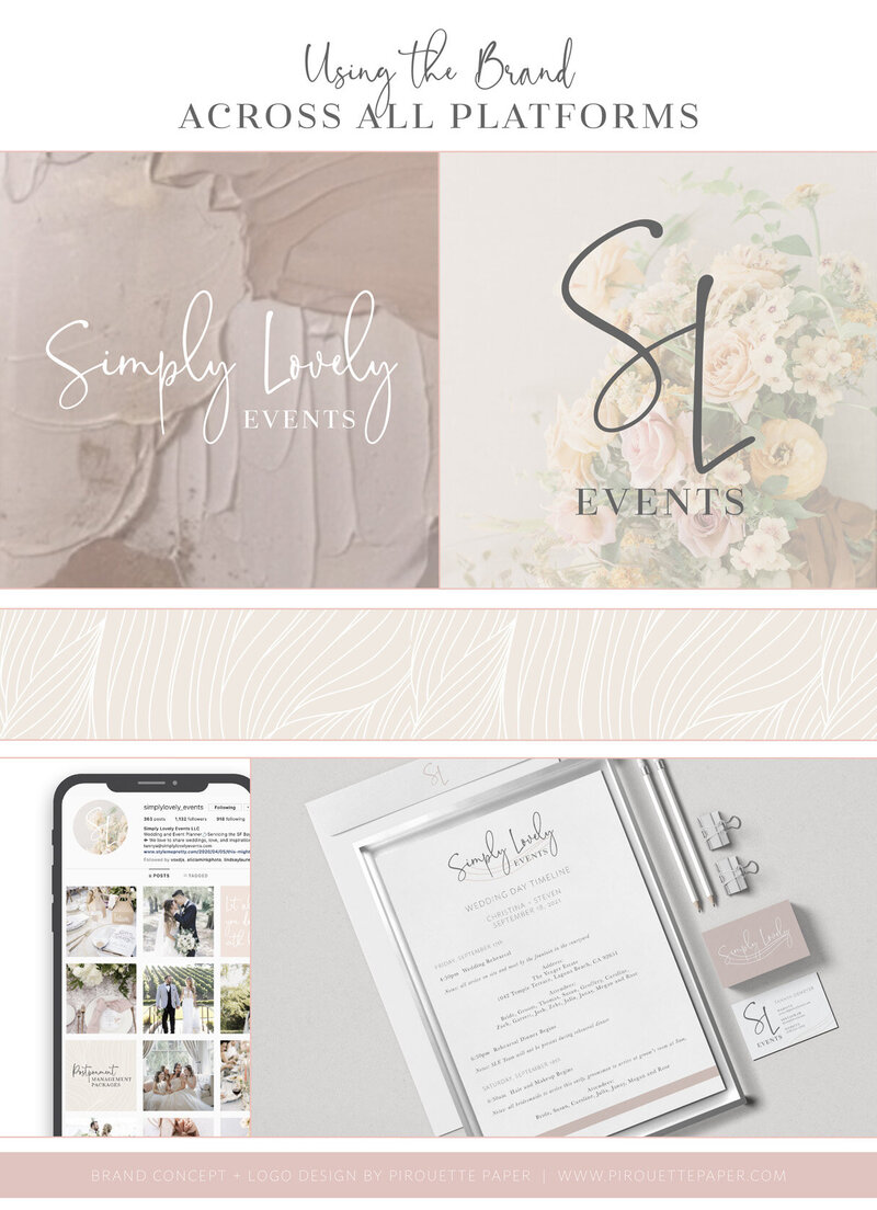 pirouettepaper.com | Logo Design + Branding | Pirouette Paper Company | Simply Lovely Events Logo + Branding, Event Planning + Design in Orange County, CA 08