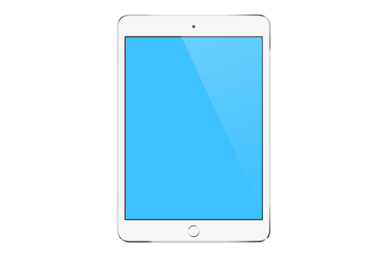 2 ipads vertical white