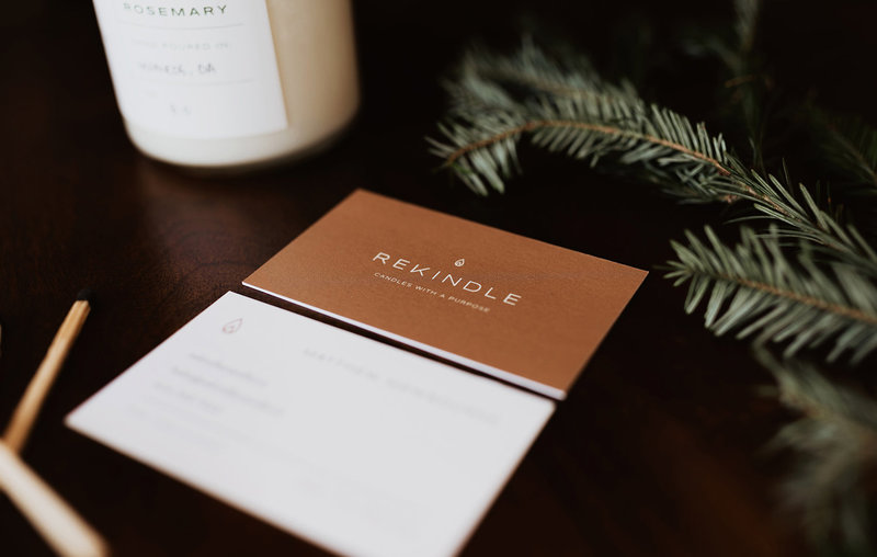 Rekindle Candle Co Business Cards