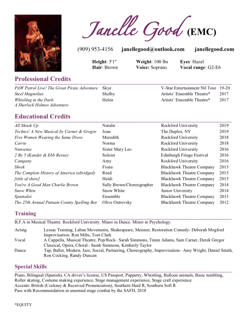 Janelle Good Resume PNG