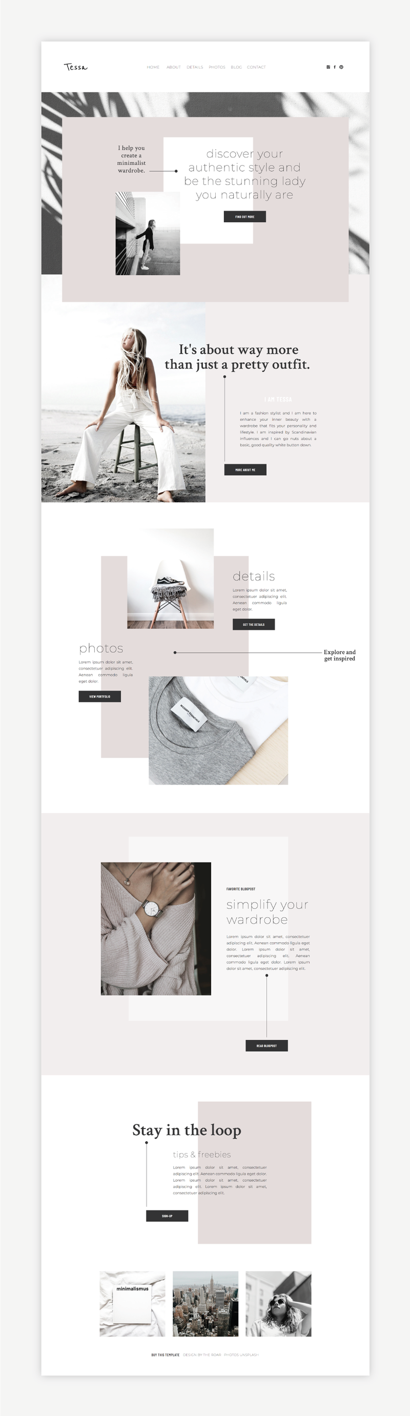 The Roar Showit Web Design Website Template Tessa Shop Image Full