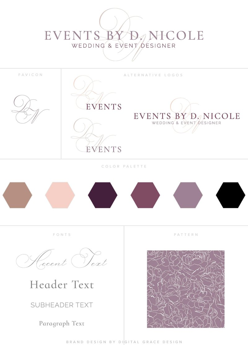 Events by D Nicole Branding Board