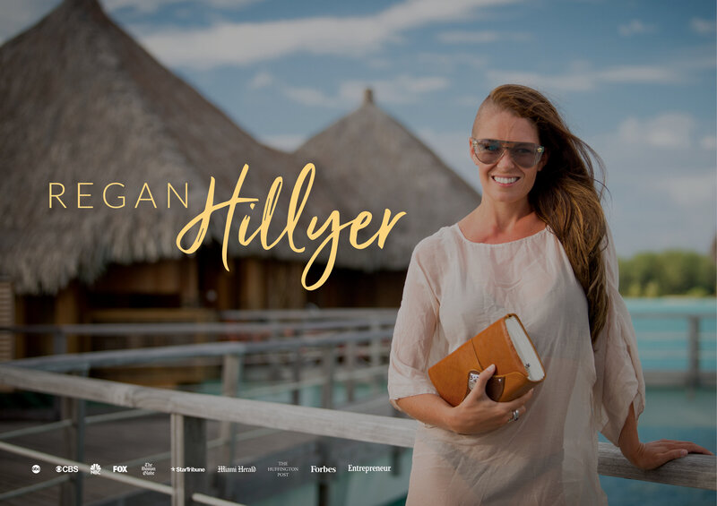 Portfolio cover image for Regan Hillyer's business branding collateral