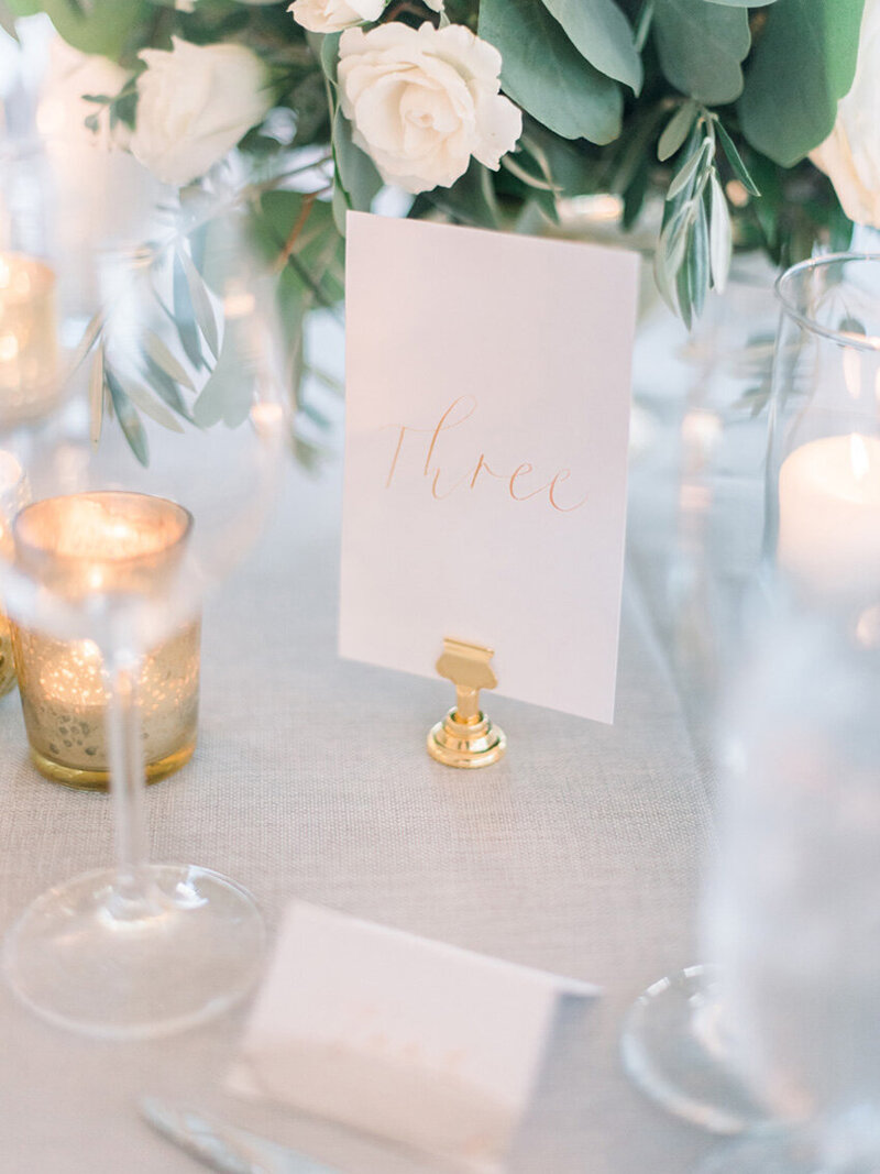 pirouettepaper.com | Wedding Stationery, Signage and Invitations | Pirouette Paper Company | Table Numbers 56