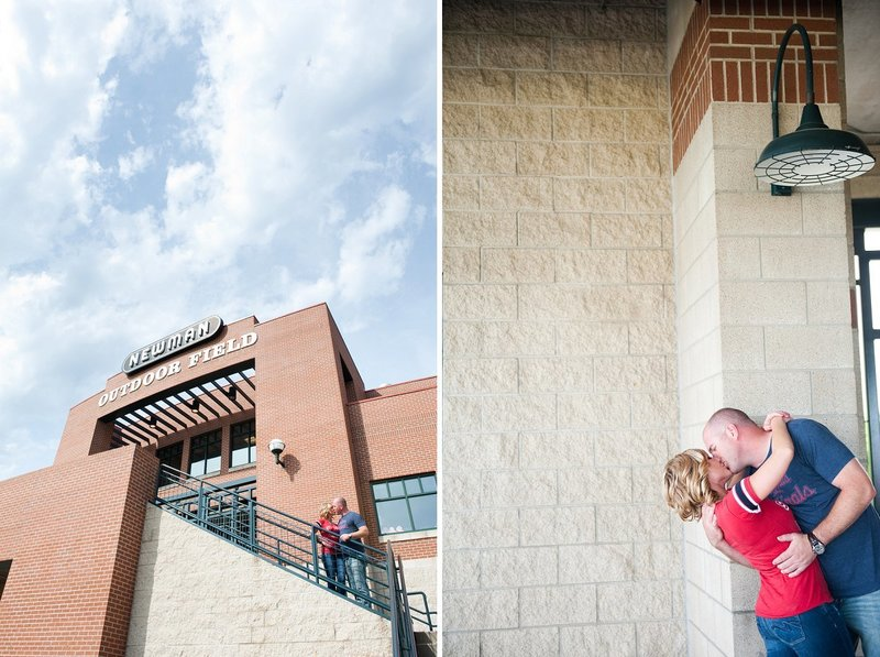 Fargo Red Hawks Engagement session at the stadium by kris kandel (11)