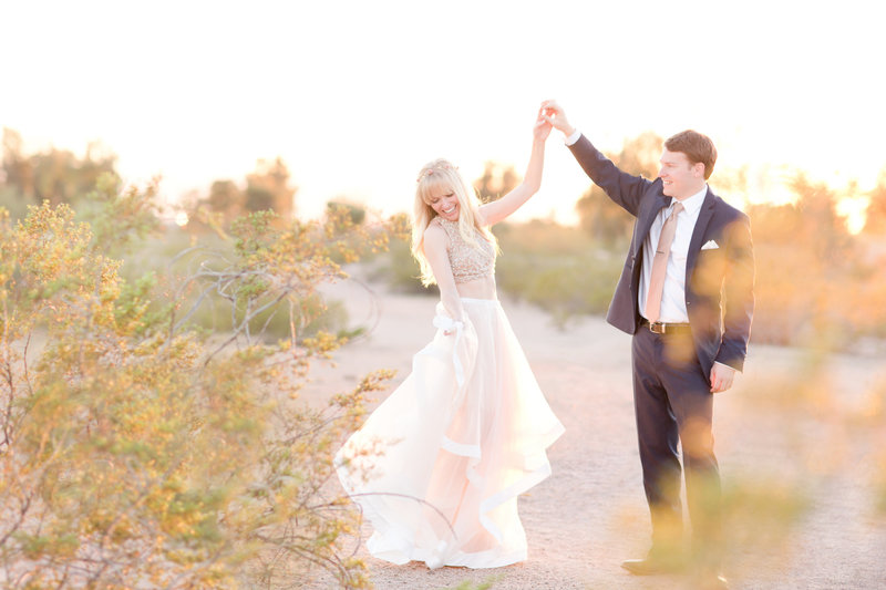 Fairytale Desert Engagement Session | Amy & Jordan Photography