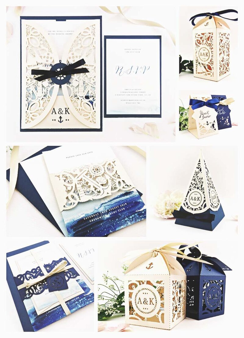 Nautical wedding inspiration with a navy and blush colour scheme