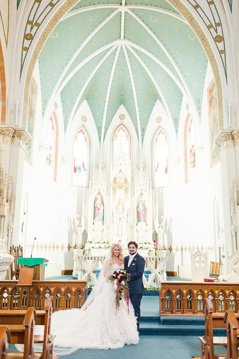 Wedding Ceremony at St Marys catholic church in Fredericksburg Texas and reception at National Museum of the Pacific war Nimitz in fredericksburg Texas Wedding Venue photos by Allison Jeffers Photography_0034