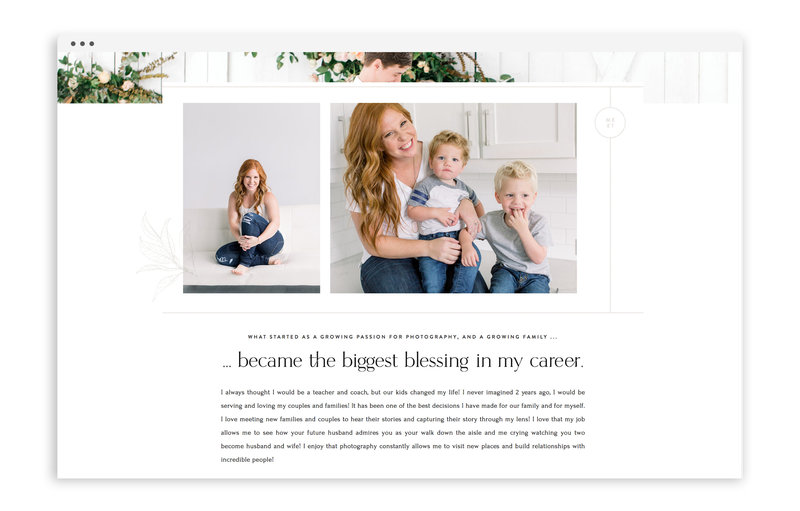 Courtney Bosworth Photography - Custom Brand and Showit Web Design by With Grace and Gold - Showit Theme, Showit Themes, Showit Template, Showit Templates, Showit Design, Showit Designer - 3