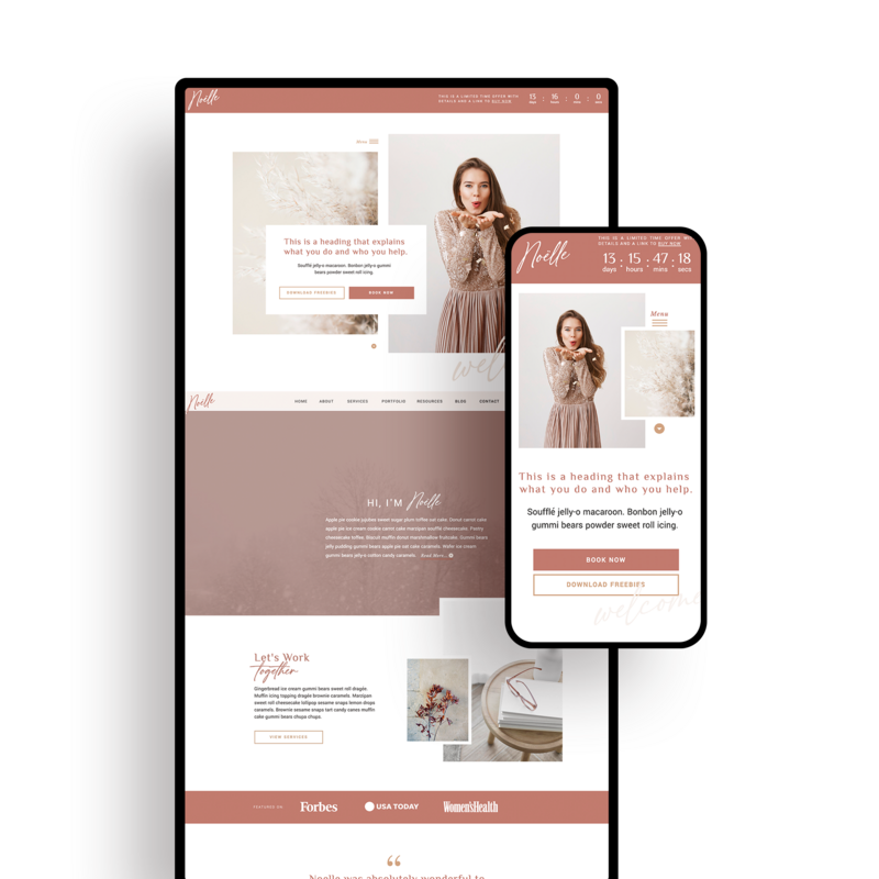 Clementine | Showit Website Templates | Showit Websites by Viva la Violet