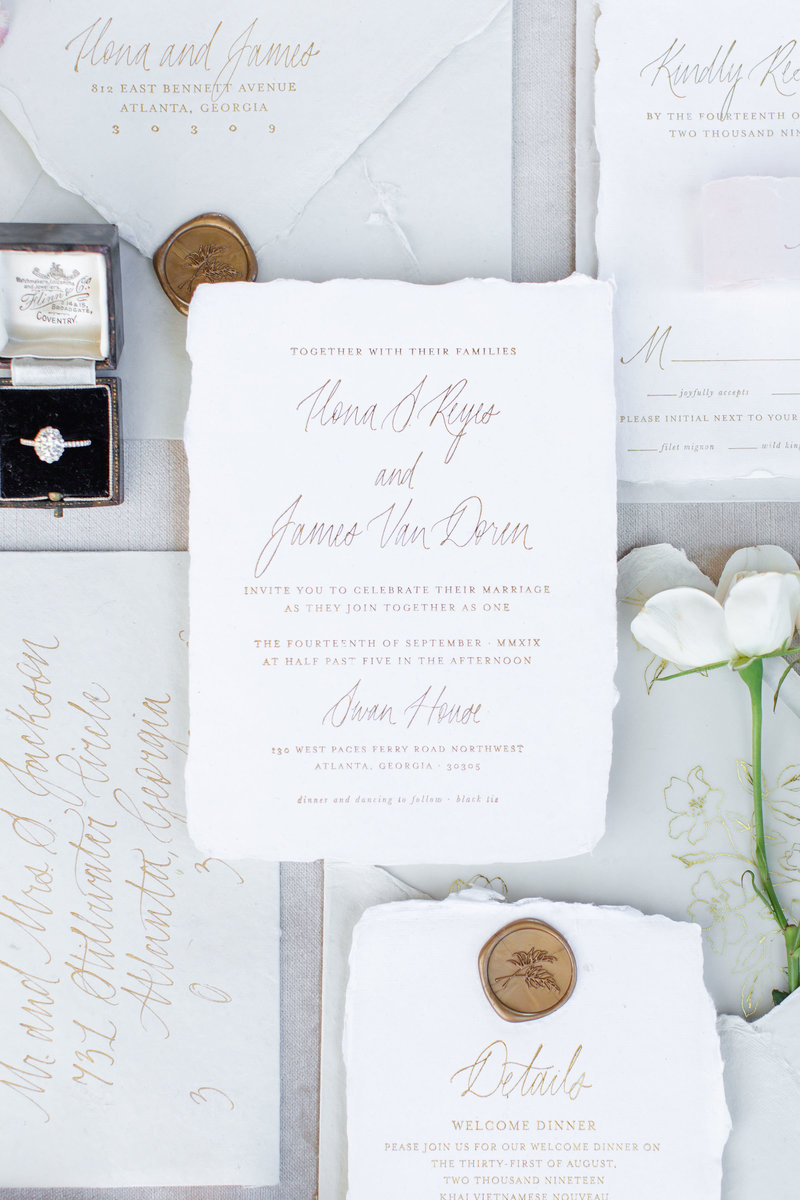 Lowndes Grove Wedding Invitation