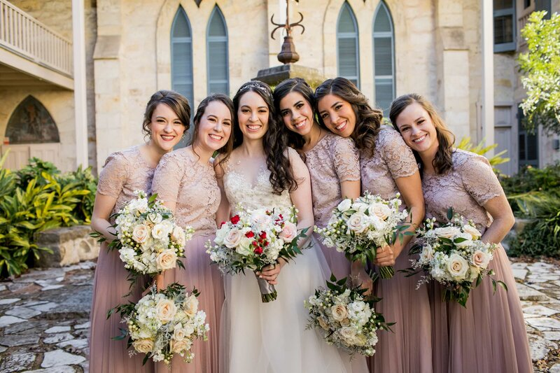 Bridal party at Southwest School of Art