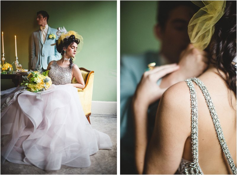 blue and yellow wedding inspiration