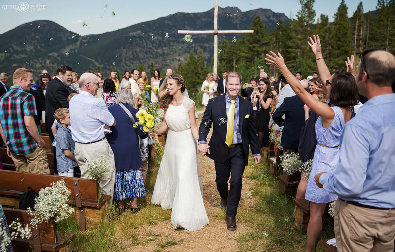 End-of-Ceremony-Celebration-Flower-Toss-Estes-Park-Colorado-Mountain-Ceremony