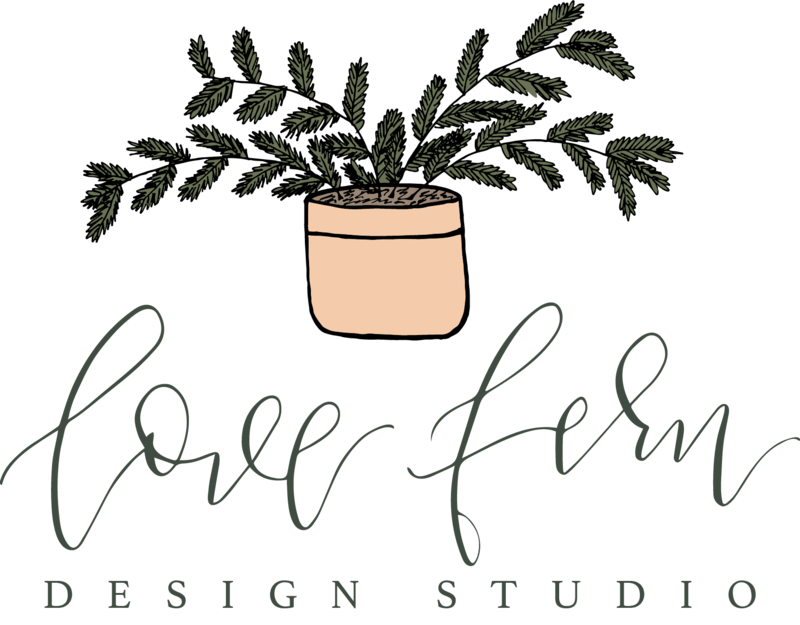 Logo for Love Fern Design Studio
