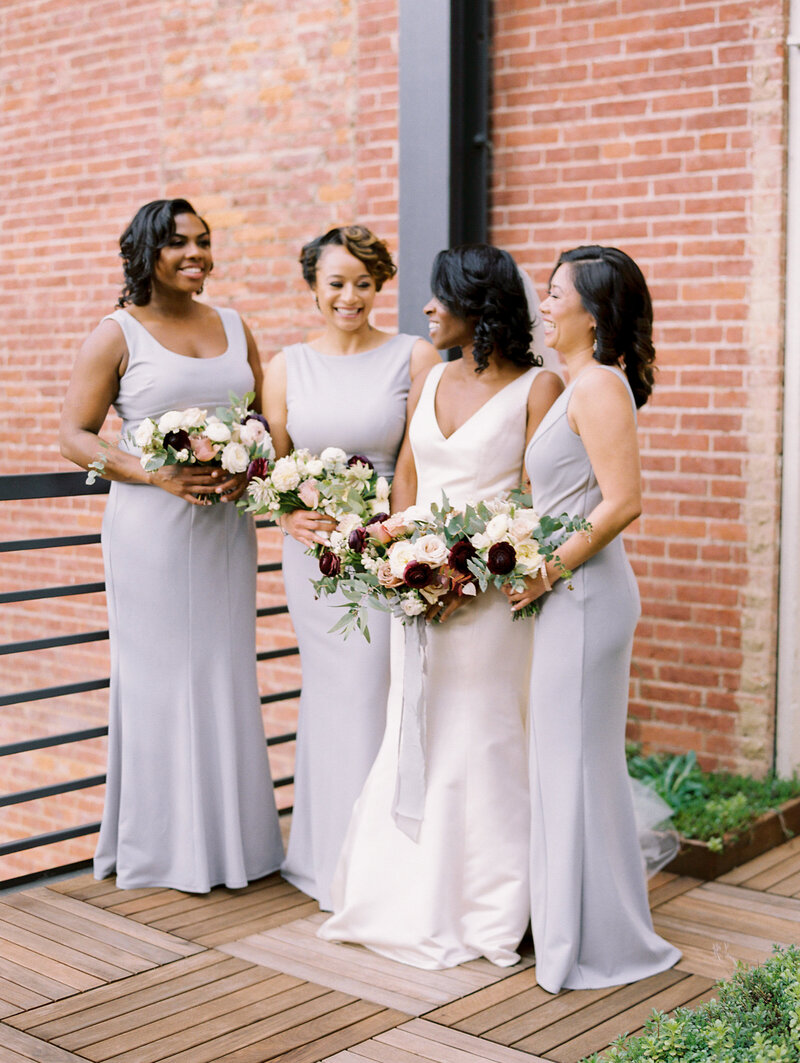 Small bridal party at the Excelsior