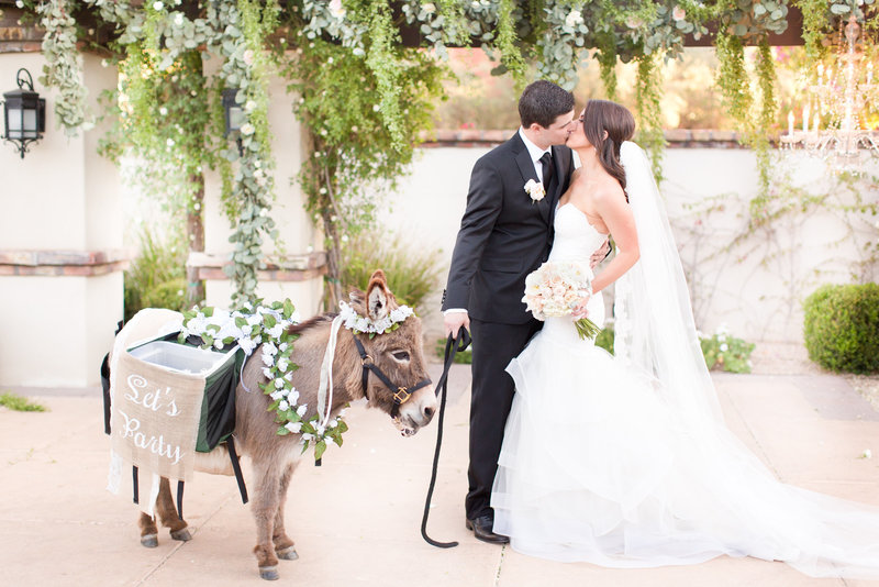Blush Omni Montelucia Wedding Paradise Valley, Arizona Beer Burro | Amy & Jordan Photography