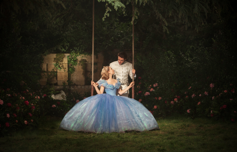 garden scene from live action cinderella movie