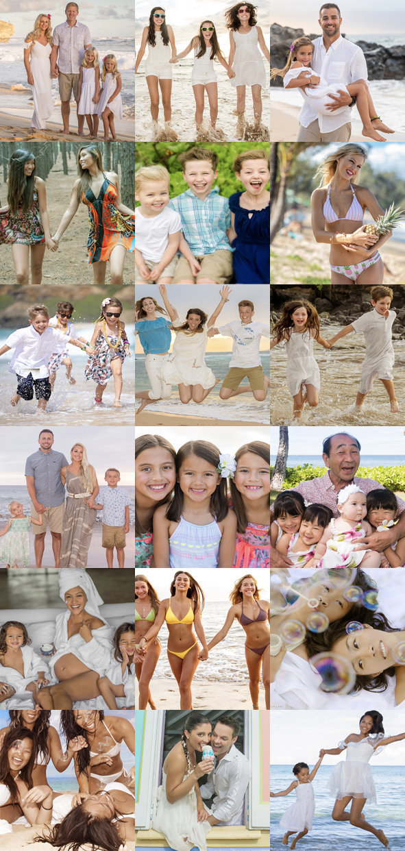 Maui photographers | Kauai photographers | Oahu photographers | Big Island photographers