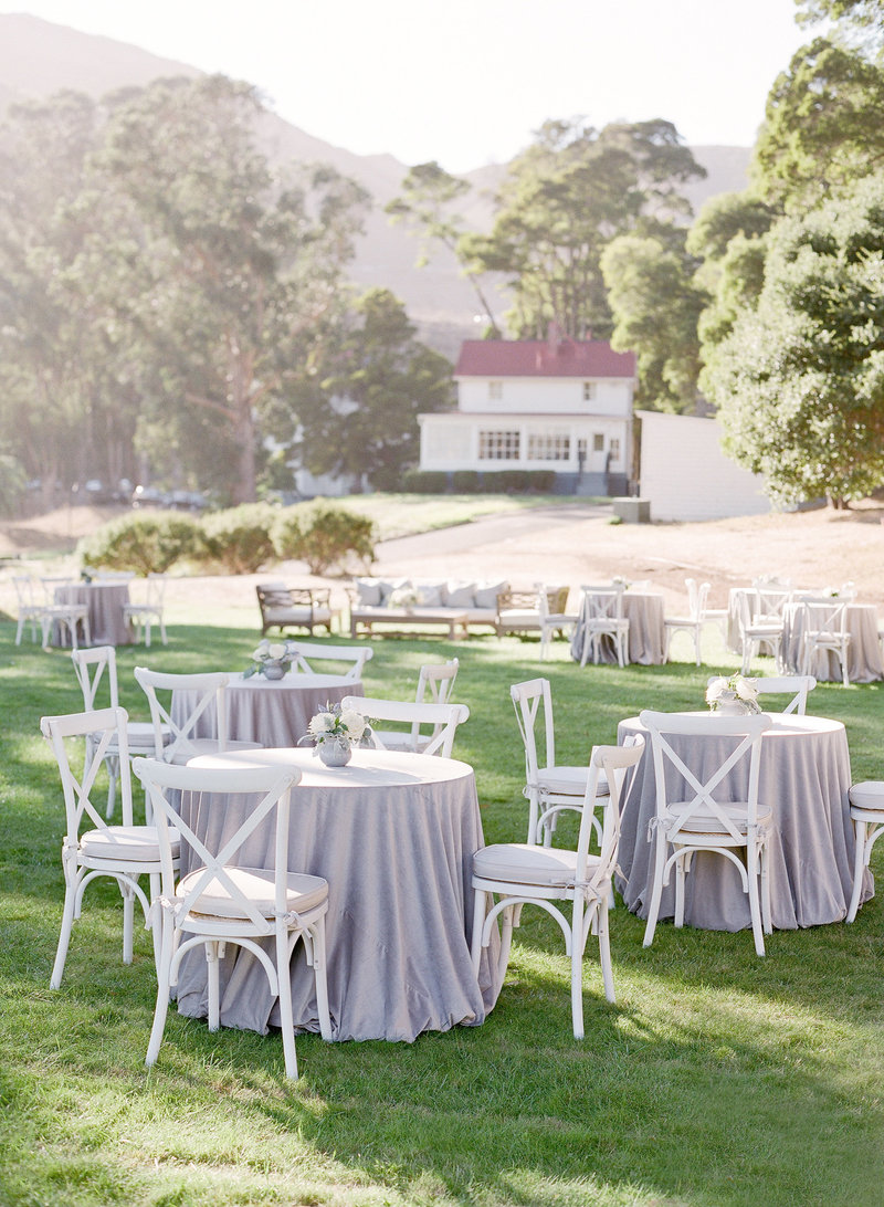 Tables and styling for Cavallo Point wedding by Jenny Schneider Events.