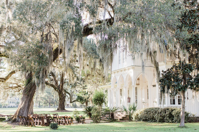 Wedding Ceremony at Rosehill Mansion in Bluffton by Apt. B Photography
