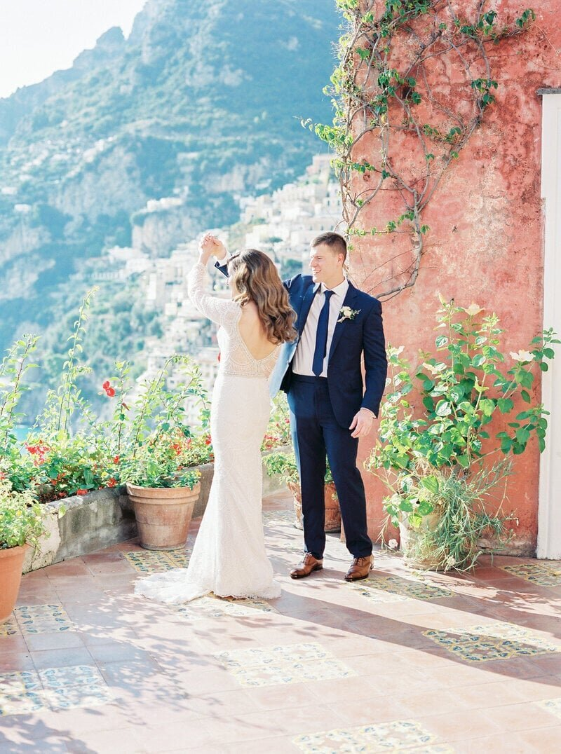 14 guest Positano wedding at the Marincanto Hotel