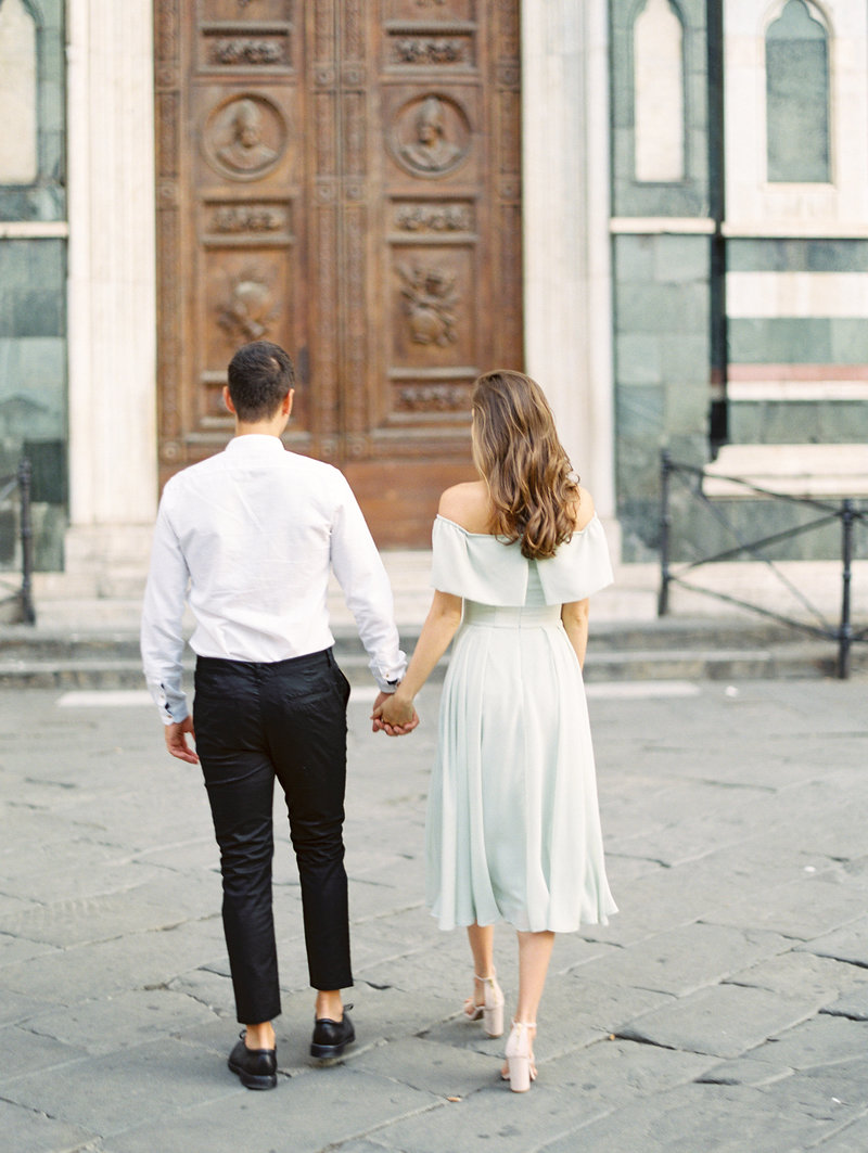 Florence Italy engagement session at the Duomo