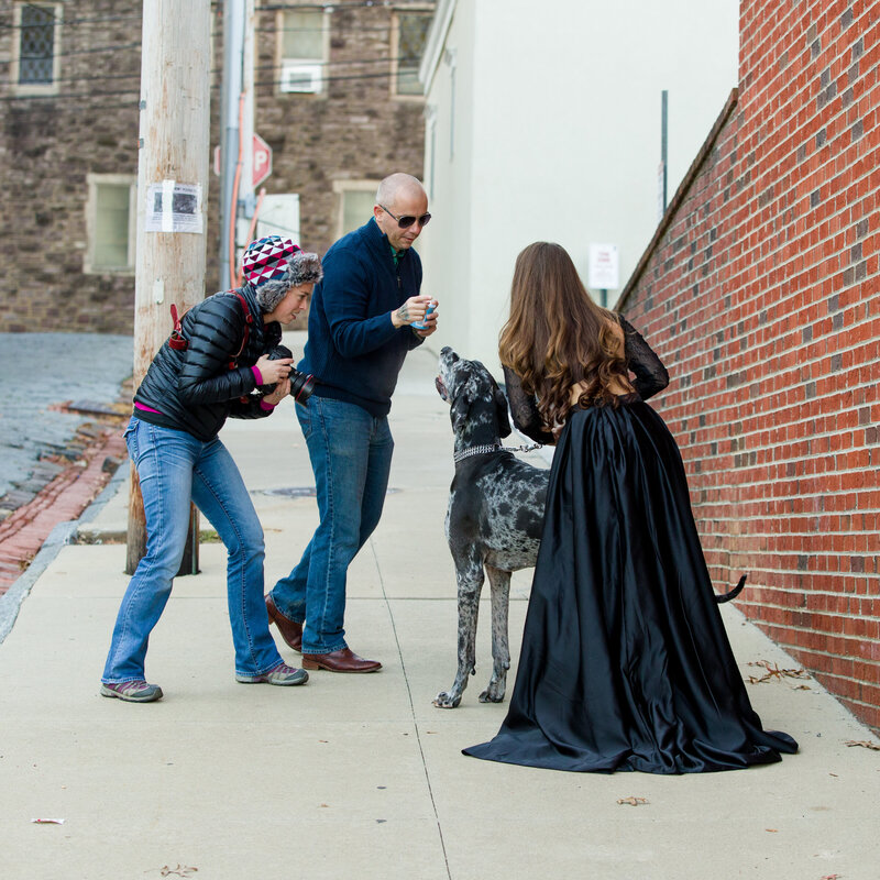 Behind the Scenes at a Mini Session in Phoenixville
