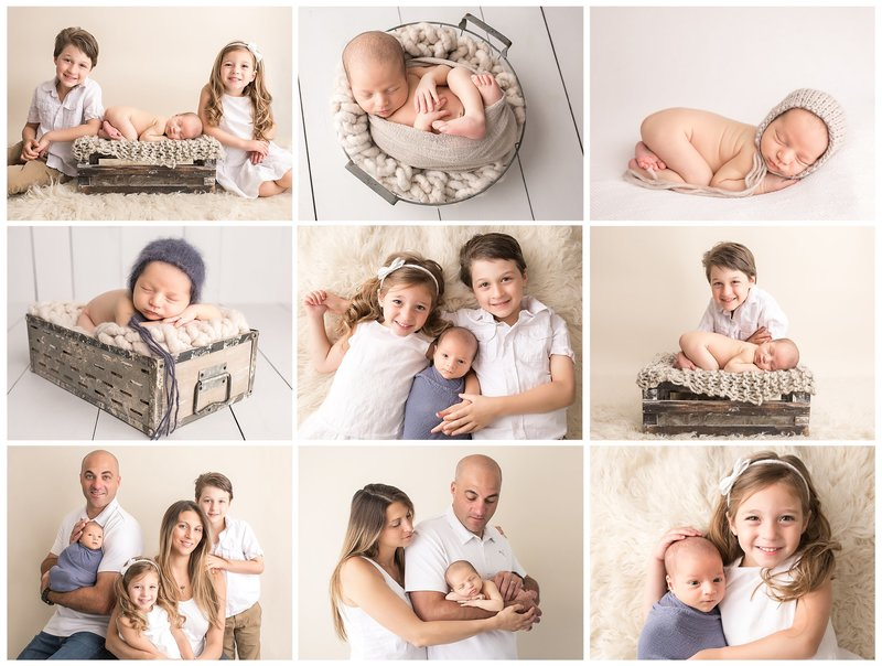 blue and gray newborn session