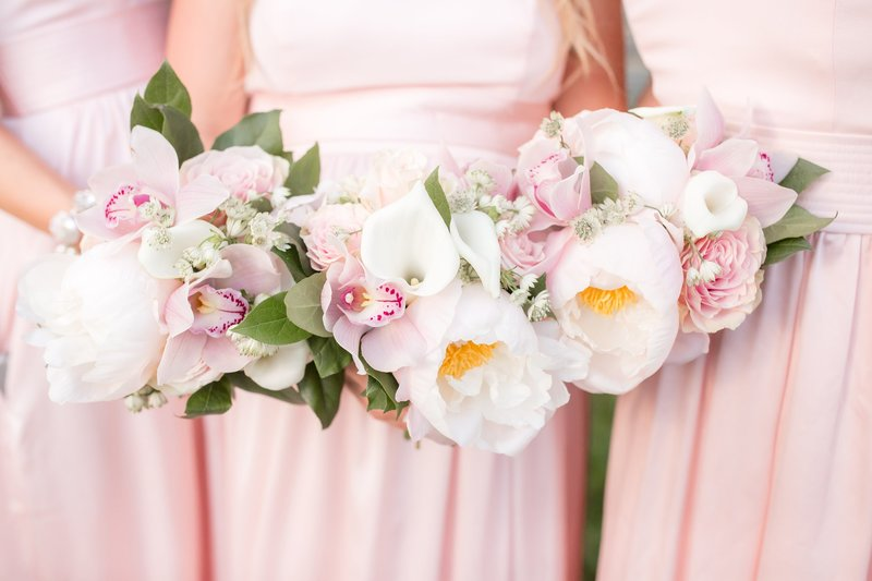 Bridesmaids bouquets by NJ Wedding Photographers