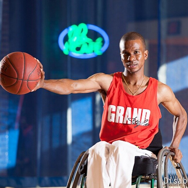 Ray Grand played wheelchair basketball at Oklahoma State University.