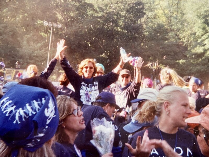 ME..Did a 60mile walk for Breast Cancer.From Bear Mountain to Central Park in 3 days..Slept iin a tent!