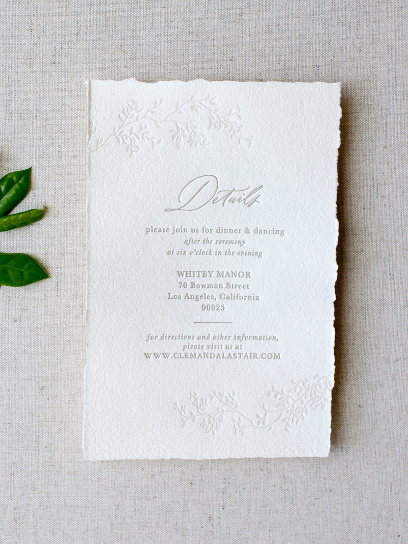 Semi-Custom Invitation Collection - Cascading Beauty Details Card Add-on