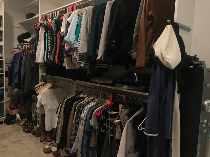 Large Closet Before Closet Organization