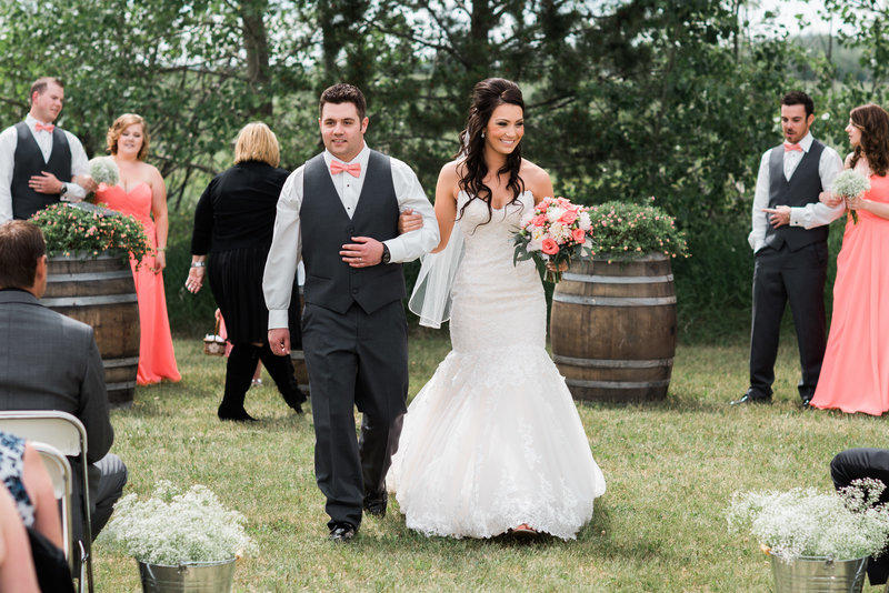Red Deer Photographers-Raelene Schulmeister Photography- wedding photos-Valley Centre Hall-Bride and Groom recessional