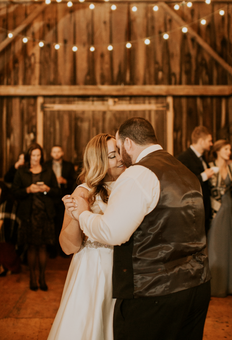 Rustic Farm Wedding Bride and Groom First Dance