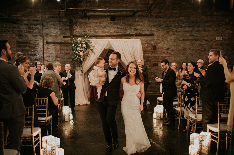 Industrial Candlelit Wedding Ceremony